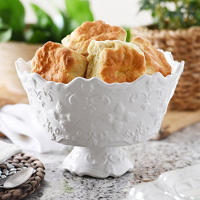 White Sweet Olive Serving Bowl