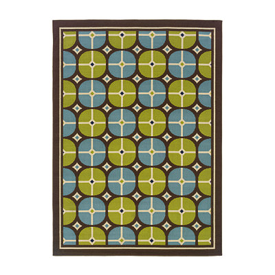 Sydney Circles Indoor/Outdoor Rug, 5x7