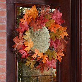 Burlap Leaf Wreath