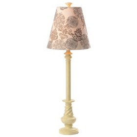 Cream Damask Buffet Lamp