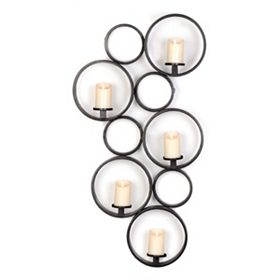 Circle Pattern 5-Candle Sconce