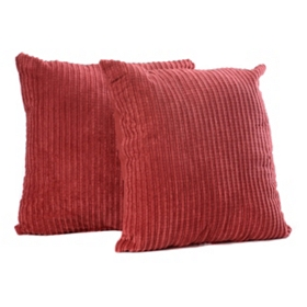 Brick Red Perry Mineral Pillow, Set of 2