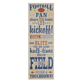 Football Fan Canvas Wall Plaque