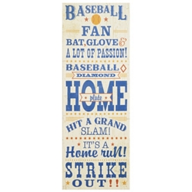 Baseball Canvas Wall Plaque