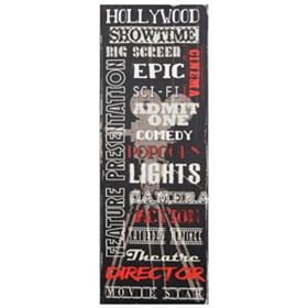 Hollywood Canvas Wall Plaque