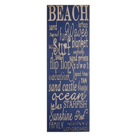 Beach Canvas Wall Plaque