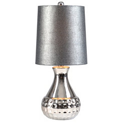 Gray Sparkle Mini Table Lamp
