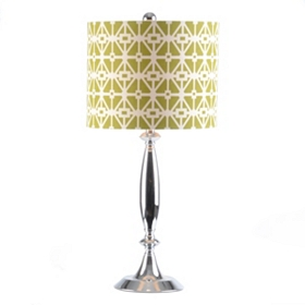 Green Geometric Table Lamp