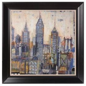 City Sketches Framed Art Print