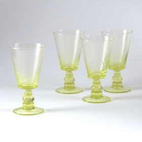 Green Milano Goblet, Set of 4