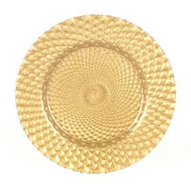 Venetian Gold Glass Charger