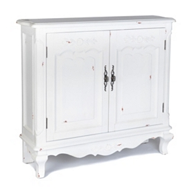 Felicity Antique White Cabinet