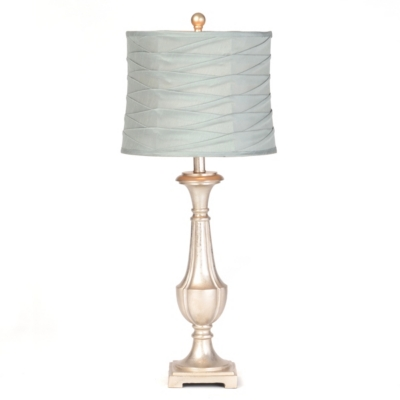 Antiqued Blue Pleated Table Lamp
