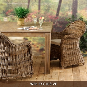 Isola Wicker Arm Chair