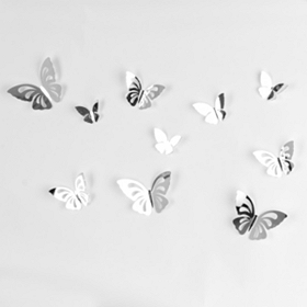 3D Butterflies Graphic Wall Decal