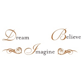 Dream Believe Imagine Wall Decal