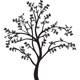Large Tree Silhouette Wall Decal