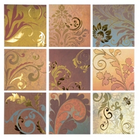 Nouveau Scroll Tiles Wall Decal