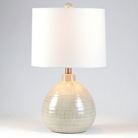 Gray Ceramic Pot Table Lamp