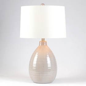 Giselle Gray Ceramic Table Lamp