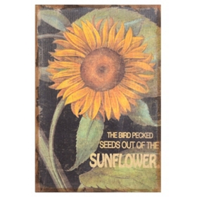 Sunflower Linen Canvas Art Print