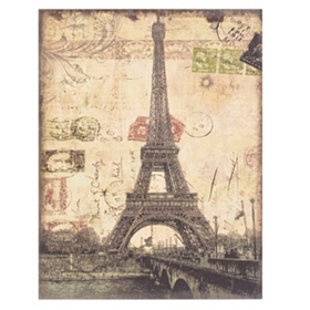 Eiffel Tower Linen Canvas Art Print