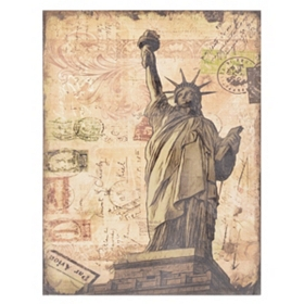 Lady Liberty Linen Canvas Art Print