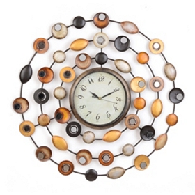Metallic Dots Wall Clock