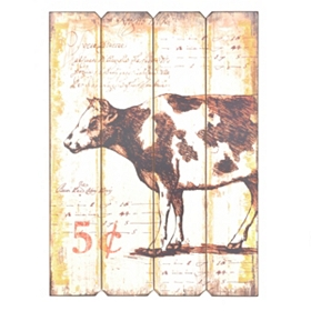 Country Cow Wall Plaque