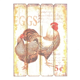 Country Rooster Wall Plaque