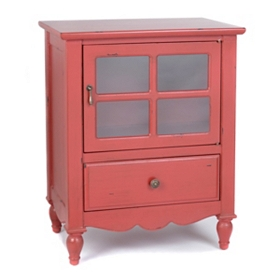 Darla Red Nightstand