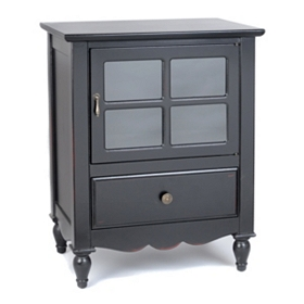 Darla Black Nightstand