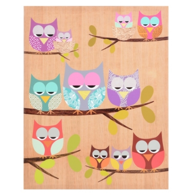Lazy Owls Canvas Art Print