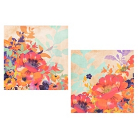 Tropique Canvas Art Print, Set of 2
