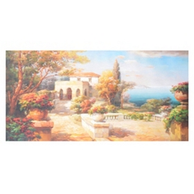 Tuscany Path Canvas Art Print