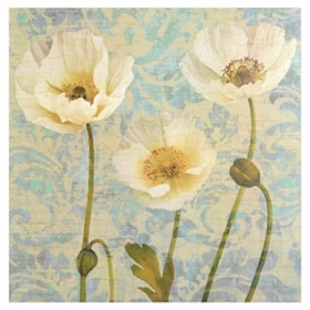 Damask Blooms Canvas Art Print