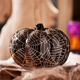 Black Spiderweb Pumpkin