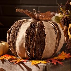 Rattan Woven Pumpkin