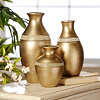 Champagne Glitz Vase, Set of 3
