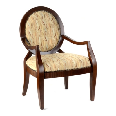 Brendan Wave Print Arm Chair