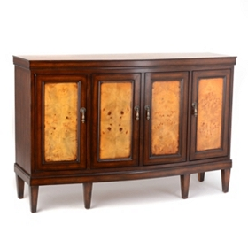 Evan Two-Tone Wood Cabinet