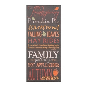 Autumn Season Canvas Typography Print