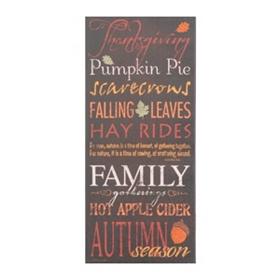 Autumn Season Canvas Typography Print