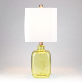 Green Oasis Square Glass Table Lamp