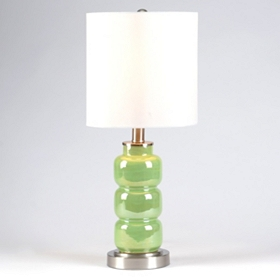 3-Tier Green Table Lamp