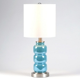 3-Tier Blue Table Lamp