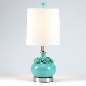 Blue Flower Ceramic Table Lamp
