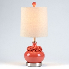 Red Flower Ceramic Table Lamp