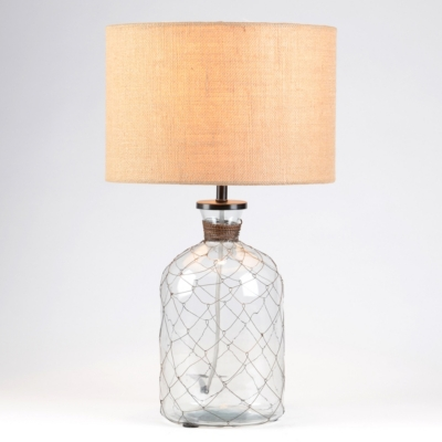 Chicken Wire Glass Jar Table Lamp
