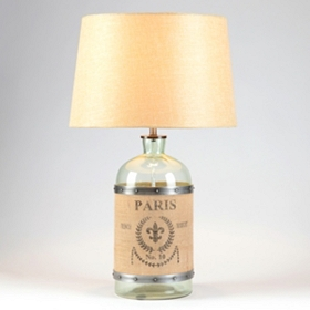 Paris Glass Jar Table Lamp